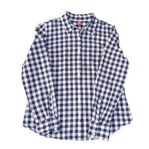 Izod Checkered Plaid Button Down Shirt